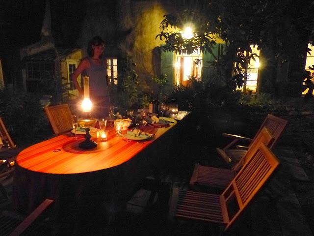 Jardin nuit Château de Puichéric